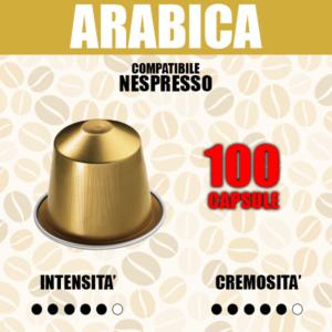 100 Capsule Compatibili Nespresso Barbaro Arabica
