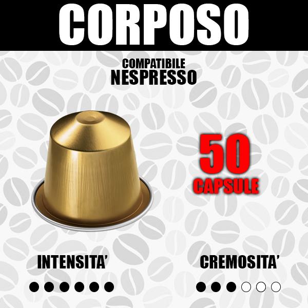 Capsule Compatibili Nespresso Barbaro Corposo 50