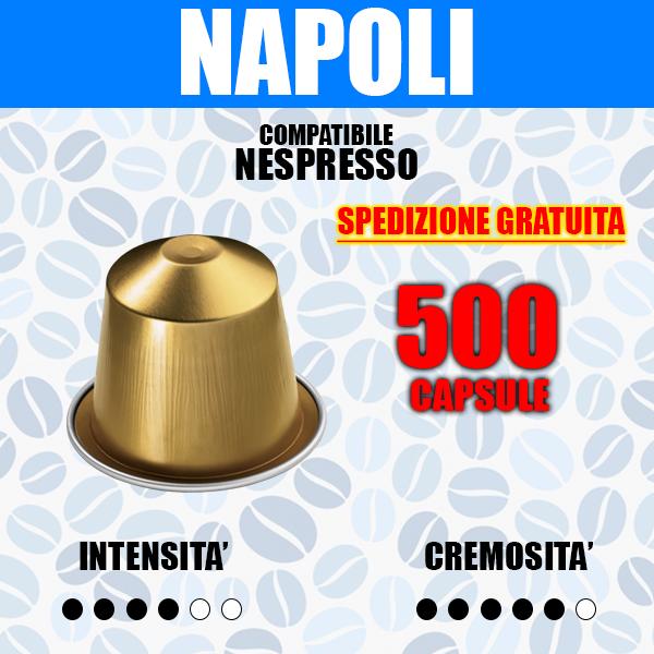 500 capsule compatibili nespresso barbaro cremoso napoli