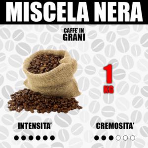 1 Kg Caffè in Grani Barbaro Miscela Nera