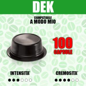 Capsule Compatibili A modo Mio Barbaro Dek 100