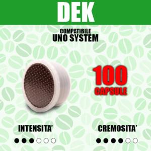 Capsule Compatibili Uno System Barbaro Dek 100