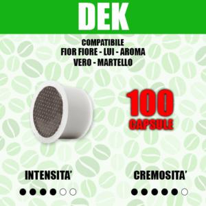 Capsule Compatibili Fior Fiore - Lui - Aroma Vero - Martello Barbaro Dek 100