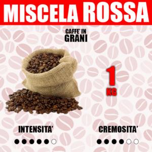 1 Kg Caffè in Grani Barbaro Miscela Rossa